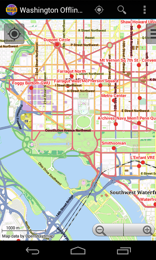 Washington Offline City Map- screenshot