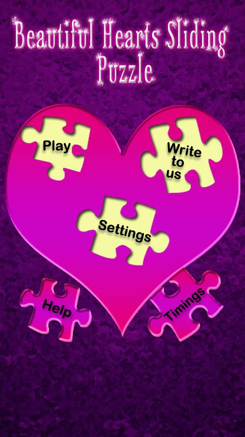 Beautiful Hearts Slide Puzzle- screenshot