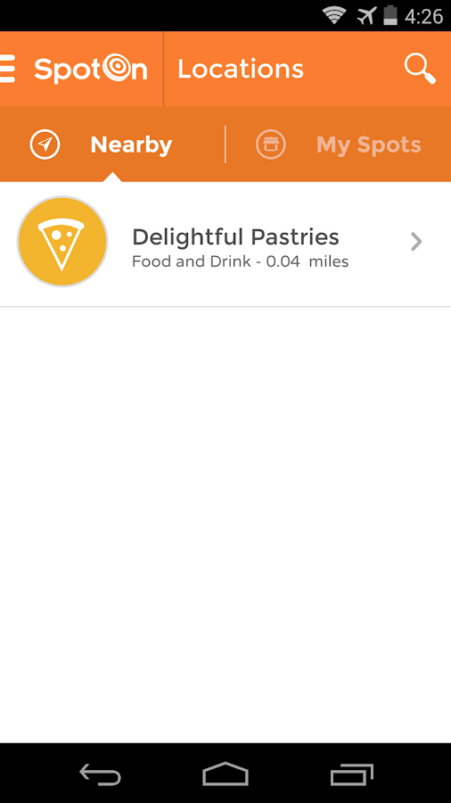 SpotOn Mobile - screenshot