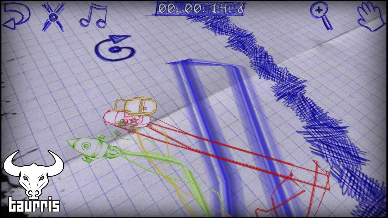 Paper Racing Cars Lite- screenshot