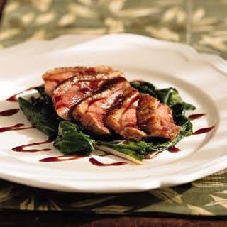Duck Breasts with Black Cherry Sauce.