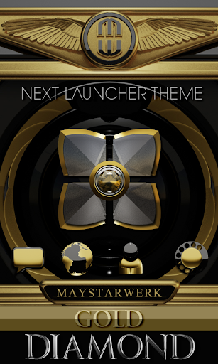 Next Launcher Theme Gold Diam