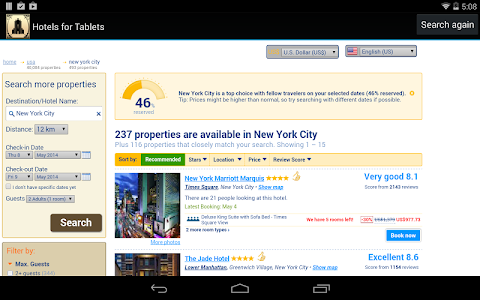 Hotels for Tablets screenshot 1