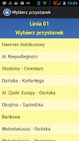 Screenshot of Żory Rozkład jazdy autobusów.