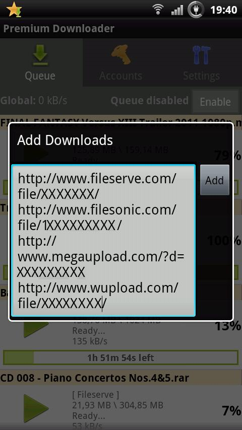 Premium Downloader - screenshot