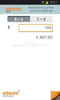 Screenshot of Euro to US Dollar