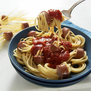 Spaghetti Hot Dogs.