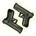 Gun shooting icon