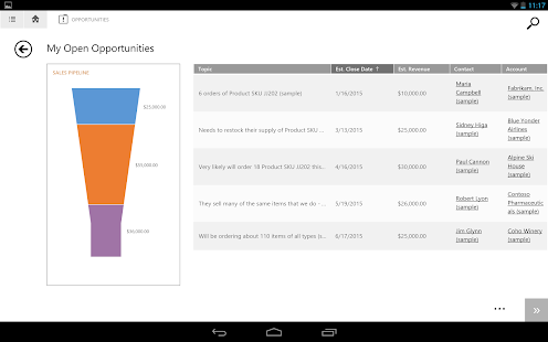 Dynamics CRM for tablets - screenshot thumbnail