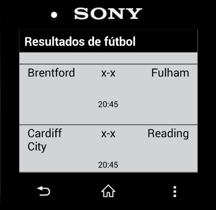 Fútbol Directo Smartwatch 2