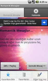 Romantik Mesajlar - screenshot thumbnail