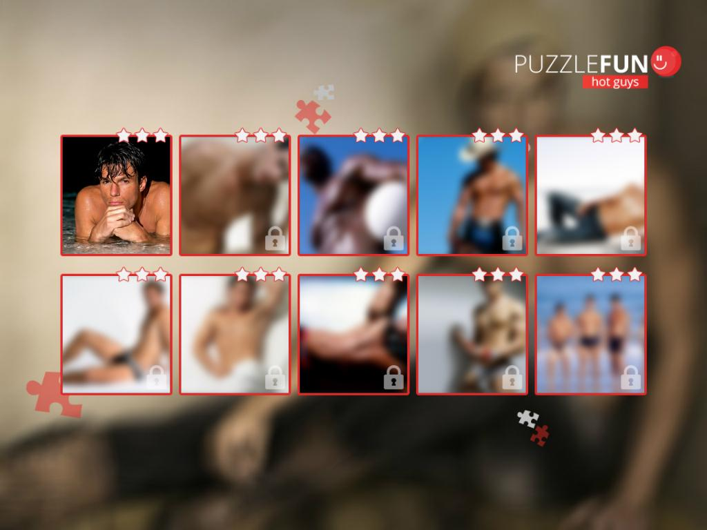 PuzzleFUN Hot Guys - screenshot