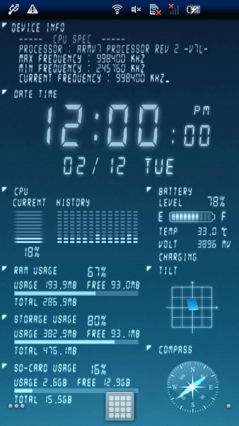 Device Info Live WallPaper - screenshot