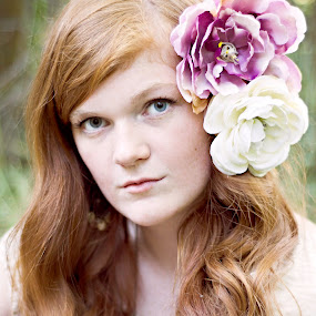 Flower Girl by Darci Jones - People Portraits of Women