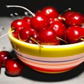 A bowl of cherries by Miranda Powers - Artistic Objects Still Life ( still life )