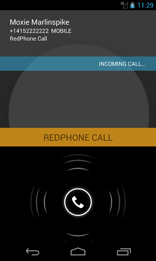 RedPhone :: Secure Calls - screenshot