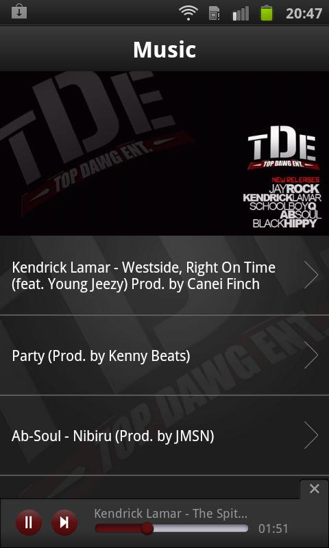 Top Dawg Entertainment- screenshot