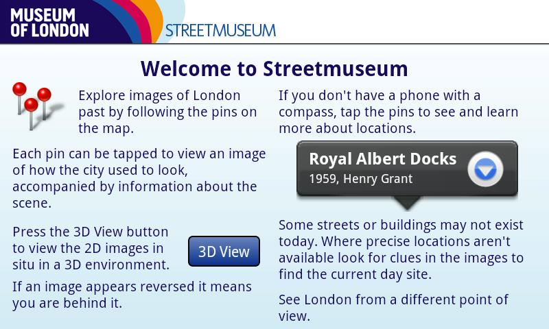 Museum of London: Streetmuseum - screenshot