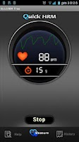 Screenshot of Quick Heart Rate Monitor