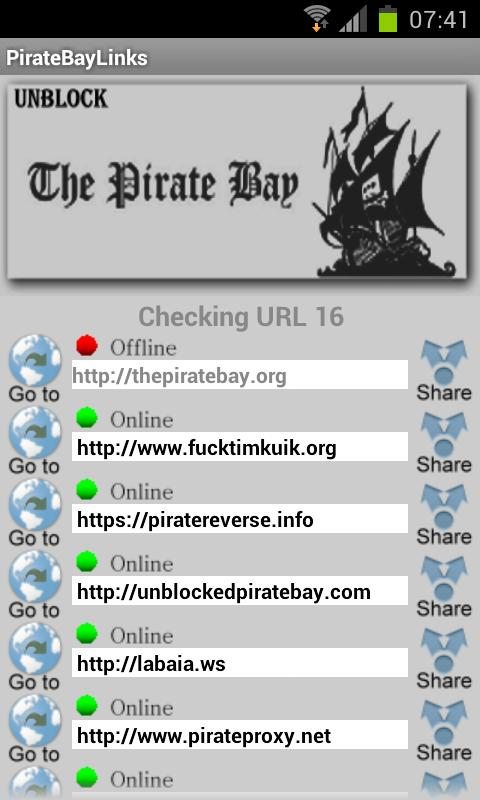 PirateBayLinks - screenshot