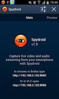 Screenshot of spydroid-ipcamera