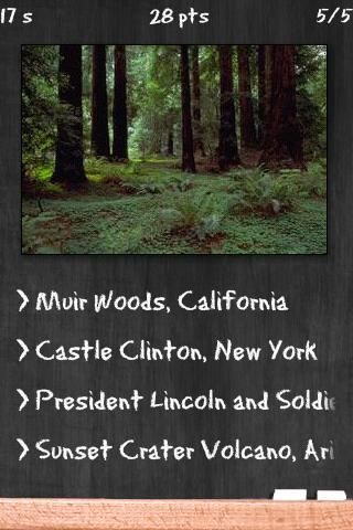 National Monuments Quiz - screenshot