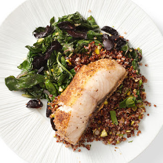 Black Cod with Swiss Chard, Olives, and Lemon
