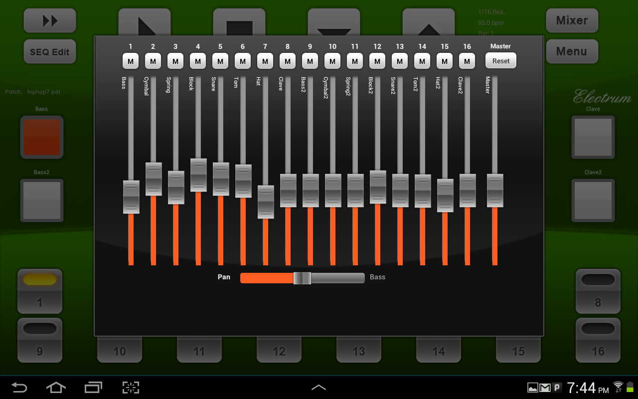 Electrum Drum Machine/Sampler - screenshot