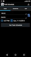 Screenshot of Path Train Schedule