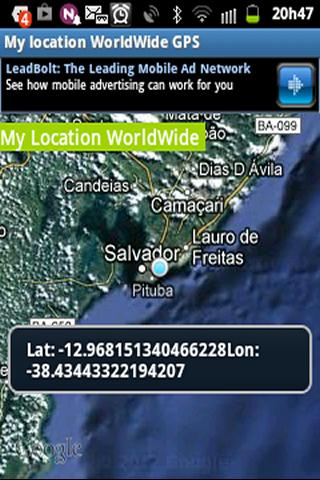 My Location WorldWide GPS - screenshot