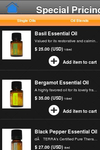 doTERRA OIls - screenshot