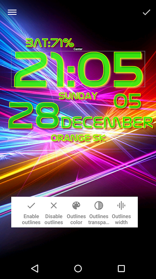 DIGI Clock Live Wallpaper - screenshot