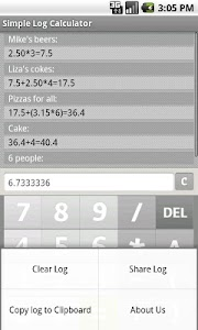 Simple Log Calculator FREE screenshot 1