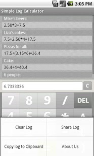 Simple Log Calculator FREE- screenshot thumbnail