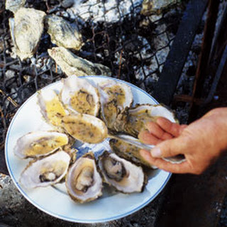 Grilled Oysters with Butter Sauce (Huîtres Grillées au Beurre Blanc).