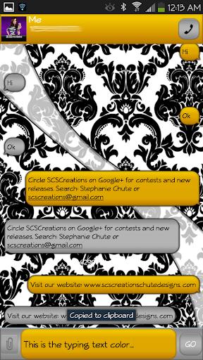 GO SMS - Damask 6