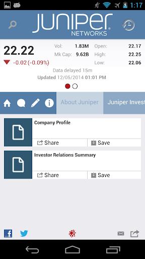【免費財經App】Juniper Networks Investor App-APP點子