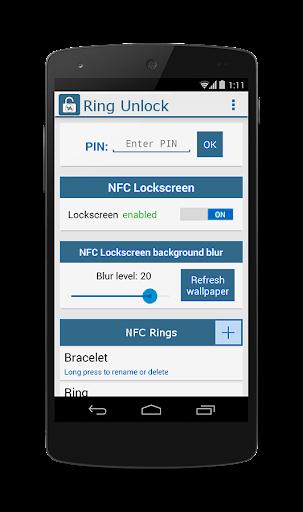 NFC SMARTRing Unlock