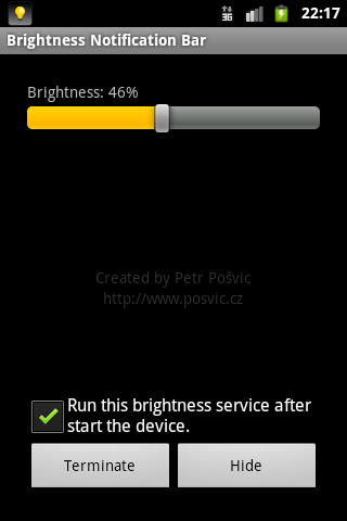 Brightness Notification Bar