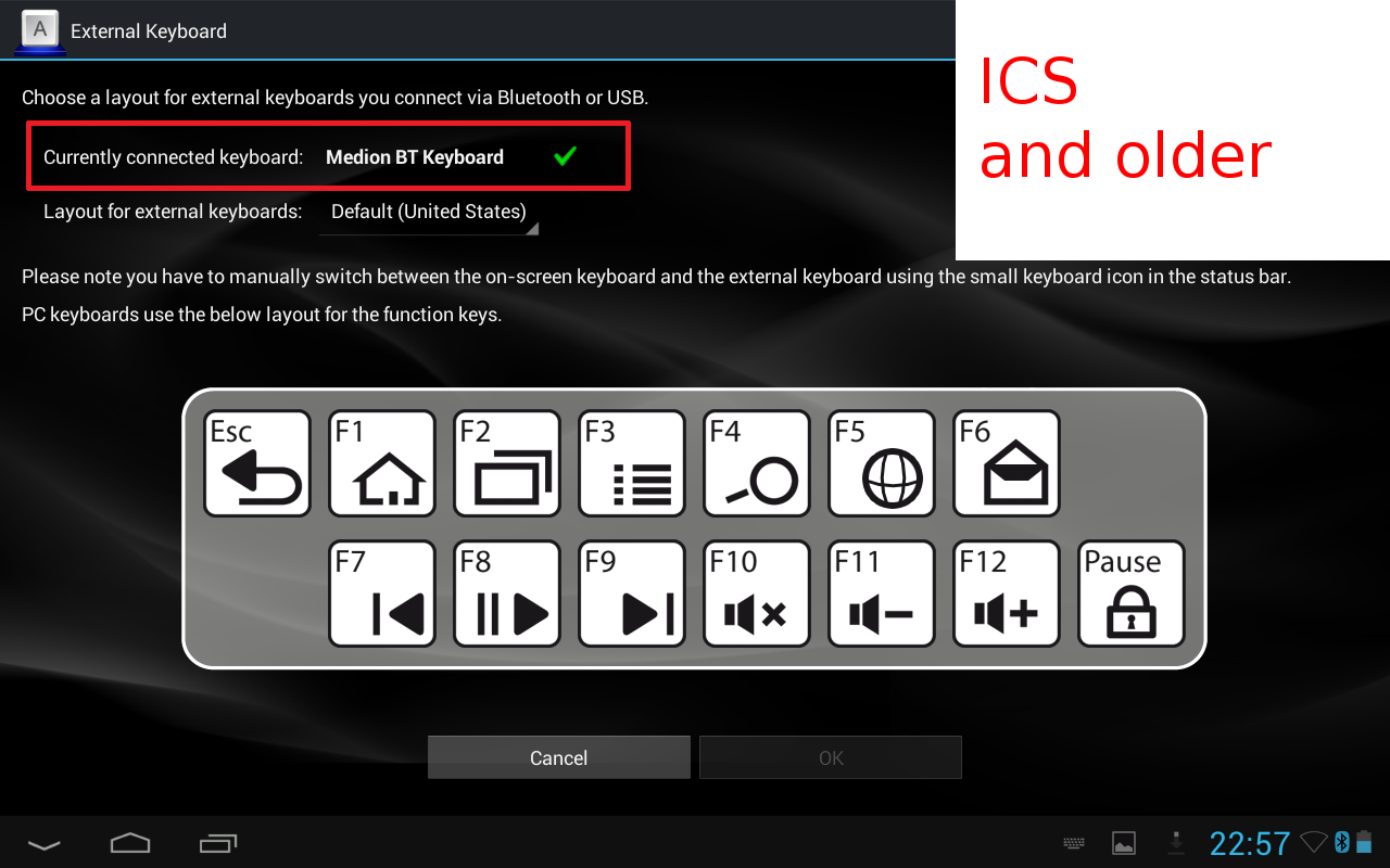 External Keyboard- screenshot