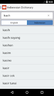 Indonesian Dictionary English Indonesian Translate- screenshot thumbnail