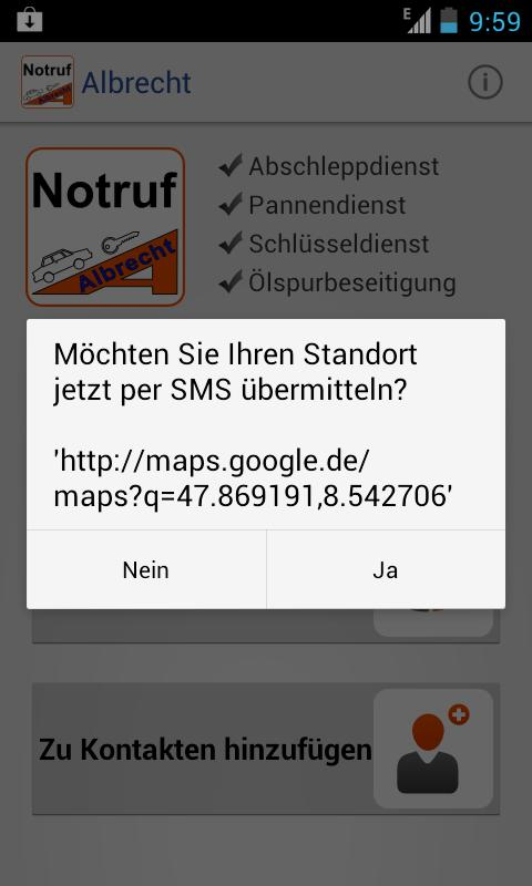Notruf ALBRECHT- screenshot