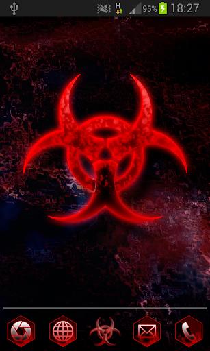 Red Hexagon Apex-Theme HD