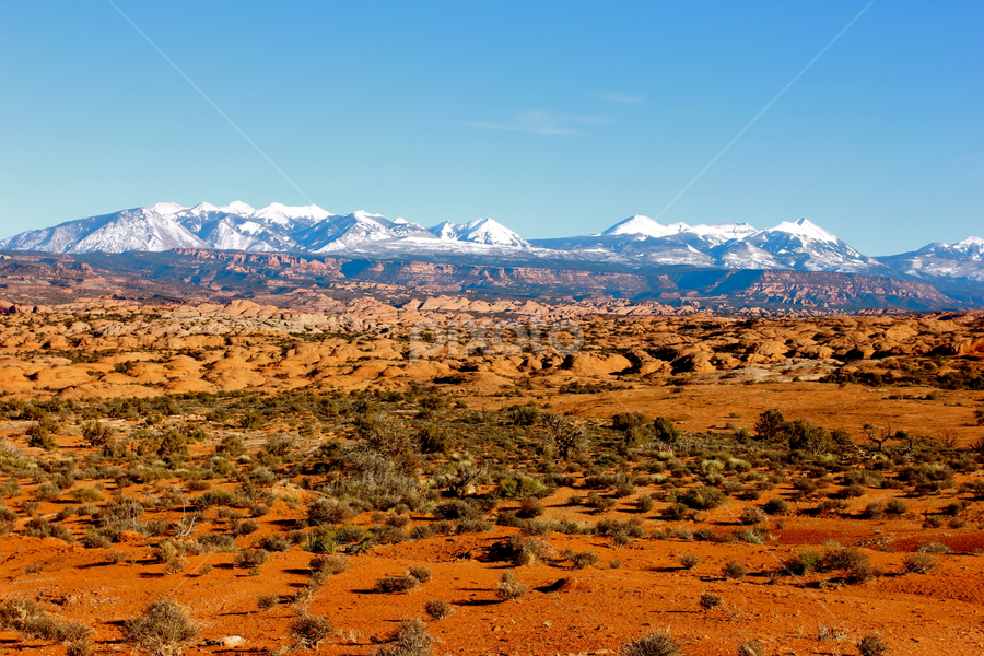 La Salle Mts.  by Dennis Robertson - Landscapes Deserts ( moab, arches, red rock,  )