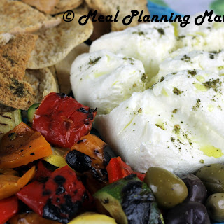 Grilled Vegetable Meze with Labneh.