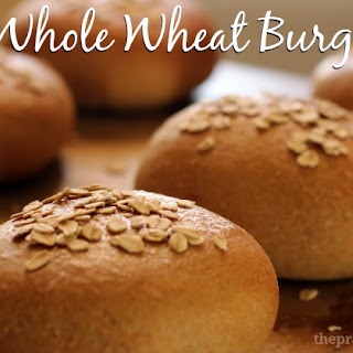 Honey Whole Wheat Hamburger Buns.