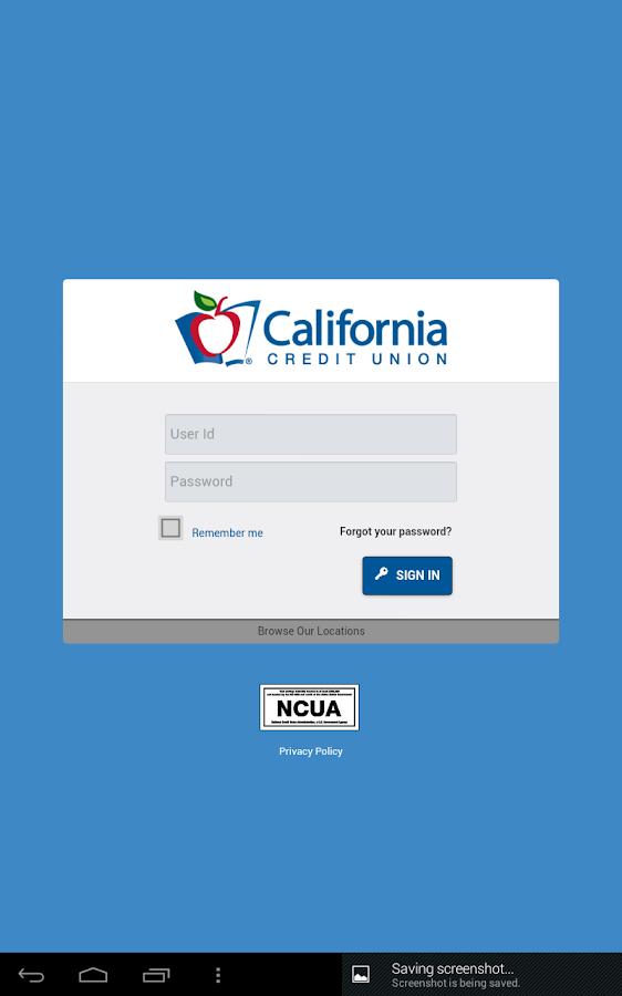California Credit Union- screenshot