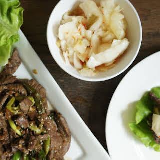 Korean Beef Lettuce Wraps.