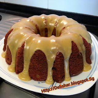 Spiced Apple Bundt Cake with Salted Caramel Glaze