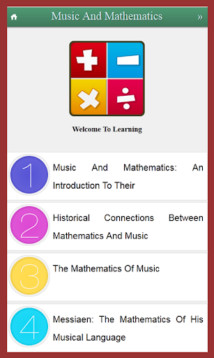 Learn Music And Mathematics